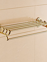 Contemporary Gold-Plated Brass Material Bathroom Shelf