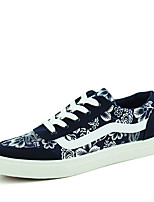 Men's Sneakers Spring / Fall Styles / Round Toe Suede Athletic Flat Heel Others / Lace-up Black / Blue / Red Sneaker