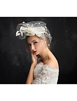 成人用 羽毛 / チュール かぶと-パーティー ヘッドドレス 1個 クリア 不規則型 15