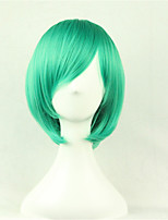 Europe And The United States A Cosine Color Wig BoBo Green 10 Inch High Temperature Short Straight Hair Silk Wig