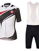 KEIYUEM Cycling Clothing Sets/Suits / Bib Shorts / Jerseys Unisex BikeBreathable / Quick Dry / Dust Proof / Wearable / Sweat-wicking /