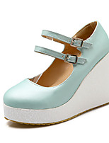 Women's Shoes Heel Heels / Platform / Round Toe Heels Outdoor / Dress / Casual Black / Blue / Pink/B-5
