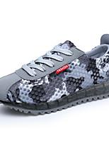 Scarpe Donna-Sneakers alla moda-Tempo libero / Casual / Sportivo-Comoda / Chiusa-Piatto-Tessuto-Blu / Verde / Rosso / Grigio