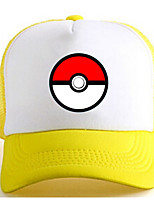 Pocket Monster-Ash Ketchum-Branco / Amarelo- deCharmeuse-Chapéu
