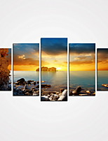 5 Panels Sea Picture Printed on Canvas Modern Wall Art for Home Decor Unframed