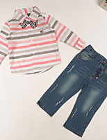 Boy's Cotton Clothing Set,Summer / Spring / Fall Striped