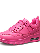 Women's Shoes PU / Faux Suede Flat Heel Comfort / Round Toe Fashion Sneakers Athletic / Casual Black / White / Fuchsia