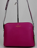 Women-Outdoor-PU-Shoulder Bag-Black / Fuchsia