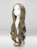 Europe And The United States Long Curly Wig Female Hair Light Brown Fake Hair In The Big Waves