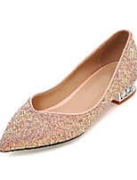Women's Shoer / Fall Heels Heels Outdoor / Office & Career / Casual Low Heel Sequin / Sparkling GlitterBlack /&9-71
