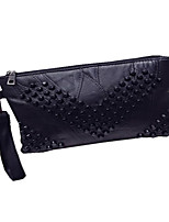 Women-Casual / Event/Party-Sheepskin-Clutch-Black