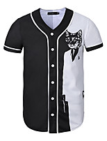 short sleeve cardigan 3 d baseball uniform movement of man