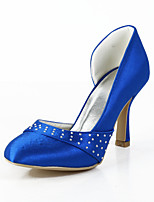 Women's Spring / Summer / Fall Heels / Round Toe Silk Wedding / Dress / Party & Evening Stiletto Heel Sparkling Glitter / Slip-onBlue /