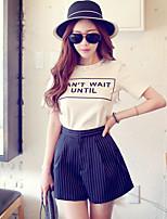 Pink Doll® Women's Stripe Print Shorts Black Casual Pants-X15BSP030