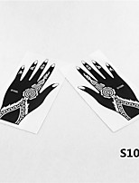 2pcs Henna & Airbrush Tattoo Stencil