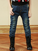 Boy's Cotton Spring/Fall Unique Style Elastic Jeans Casual Denim Trousers