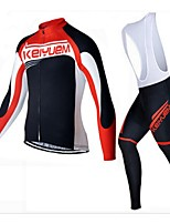 KEIYUEM Cycling Clothing Sets/Suits / Jerseys / Tights Unisex BikeBreathable / Insulated / Quick Dry / Dust Proof / Wearable / 3D Pad /