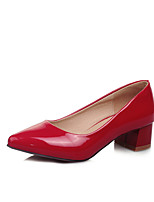 Women's Shoes Patent Leather Spring / Fall Heels / Pointed Toe Heels Office & Career / Dress / Casual Chunky Heel