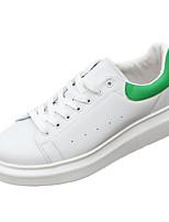 Men's Spring / Fall Comfort PU Outdoor / Casual Flat Heel Black / Green / White Sneaker