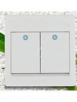 86 de doble control de socket interruptor de la pared interruptor / hogar
