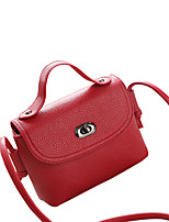 Women PU Casual Shoulder Bag White / Pink / Red / Gray / Black