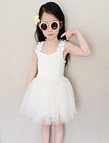Girl's Going out Solid Dress,Polyester Summer White