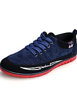 Hombre-Tacón Plano-Confort-Zapatillas de deporte-Casual-Vellón-Negro / Azul / Amarillo