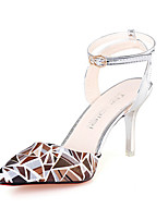 Women's Heels Summer Heels PU Casual Stiletto Heel Buckle Pink / White / Silver / Gray / Gold Others
