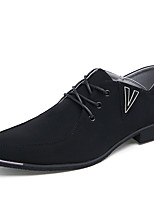 Men's Oxfords Spring / Fall Cowhide Office & Career / Casual / Party & Evening Low Heel Others Black / Blue / Gray Walking
