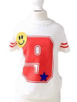Gatti / Cani T-shirt Rosso / Blu Estate / Primavera/Autunno Lettere & Numeri Di tendenza / Casual-PetStyle, Dog Clothes / Dog Clothing