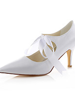Women's Shoes Stretch Satin Spring /  Fall Heels / Pointed Toe Heels Wedding /  Dress Stiletto Heel Ribbon Tie