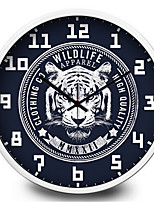 The Classic White Tiger Home Furnishing Decorative Mute Quartz Wall Clock