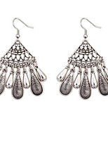 Retro Fashion Fan Pendant Earrings