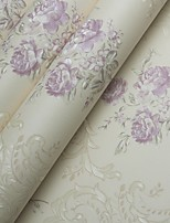 Arttop®Wallpaper Floral Wallpaper Contemporary Wall Covering,PVC/Vinyl Yes