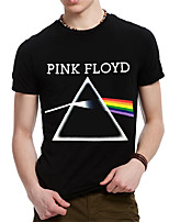 Fashion Men's Rock Band Triangle Printing Britain Cotton Round Neck T-shirts
