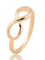 Metal Luxury Simple Pour Number Eight Pierced  Rings