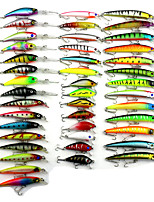 43 pcs pcs Poissons nageur/Leurre dur / Fretin / Popper Multicolore 7g/pc (about) g/1/4 Once,50-100mm/pc mm/2-1/4