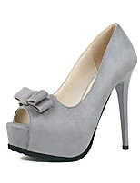 Women's Shoes Fleece Summer Heels Heels Casual Stiletto Heel Others Black / Gray