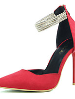 Women's Shoes Fleece Summer Heels Heels Casual Stiletto Heel Others Black / Pink / Red / Gray / Fuchsia / Khaki