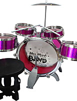 Child Intelligence Simulation Jazz Drum Rack Drum Percussion Musical Instrument Toy With Seat