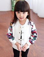 Girl's Casual/Daily Print Suit & Blazer,Cotton Spring / Fall Black / White