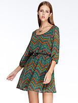 Heart Soul® Women's Round Neck 3/4 Length Sleeve Knee-length Dress-11AA15147