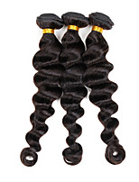 Brazilian Real Human Hair Extensions Unprocessed Soft Sew In Weave Hair Loose Wave 3 Bundles 300G