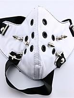 Tokyo Ghoul-Ken Kaneki-Blanco / Negro-Cuero-Máscara-