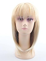 Classical Popular Daily Wearing Wigs Beige Straight with Full Bang Synthetic Wig for Europe and America Ladies