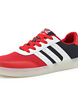 Men's Shoes Tulle Casual Walking Flat Heel Lace-up Red / Gray / Royal Blue EU39-43