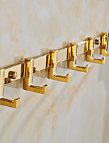 Gold-Plated finishing Brass Material Wall Mounted Robe Hooks