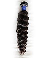 1 Pièce Ondulation profonde Tissages de cheveux humains Cheveux Brésiliens Tissages de cheveux humains Ondulation profonde