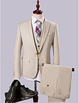 Champagne Slim Fit Three-Piece Suit