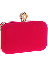 L.WEST Women's The Elegant Pearl Velvet Material Evening Bag